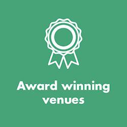 Award winning venues